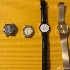 Relojes - Seiko: LOTE CUATRO RELOJES PARA REPARAR UNO DE ELLOS SEIKO. Lote 118859567