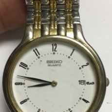 Relojes - Seiko: RELOJ SEIKO EN ACERO COMPLETO Y DETALLES CHAPADOS VINTAGE EN FUNCIONAMIENTO CON DIAL. Lote 121755663
