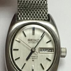 Relojes - Seiko: RELOJ SEIKO AUTOMÁTICO DOBLE DIAL EN ACERO COMPLETO CON SU CORREA ORIGINAL. Lote 142779000