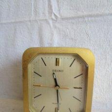 Relojes - Seiko: RELOJ DESPERTADOR SEIKO QUARTZ FUNCIONA. Lote 122866071