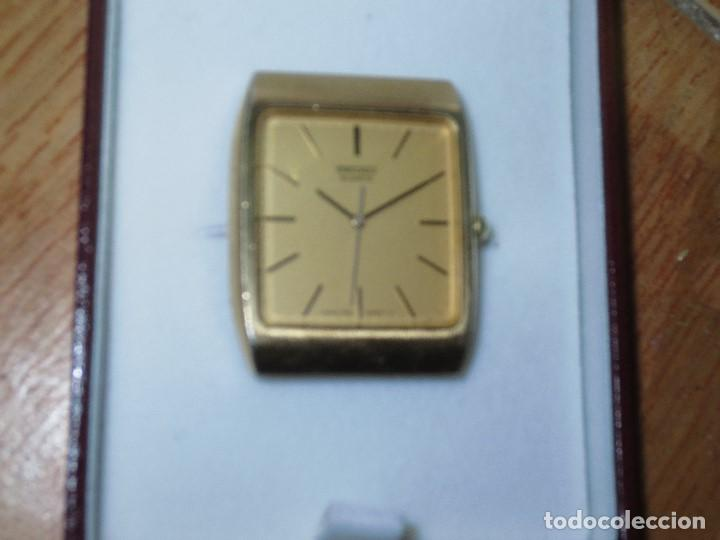 Relojes - Seiko: SEIKO TIME CORP JAPAN T RELOJ chapado en oro ANTIGUO CADENA DORADA SIN FUNCION - Foto 7 - 127580811
