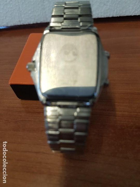 Relojes - Seiko: Reloj caballero (Vintage) SEIKO analógico y digital con alarma en acero bicolor, correa acero origin - Foto 15 - 129225063