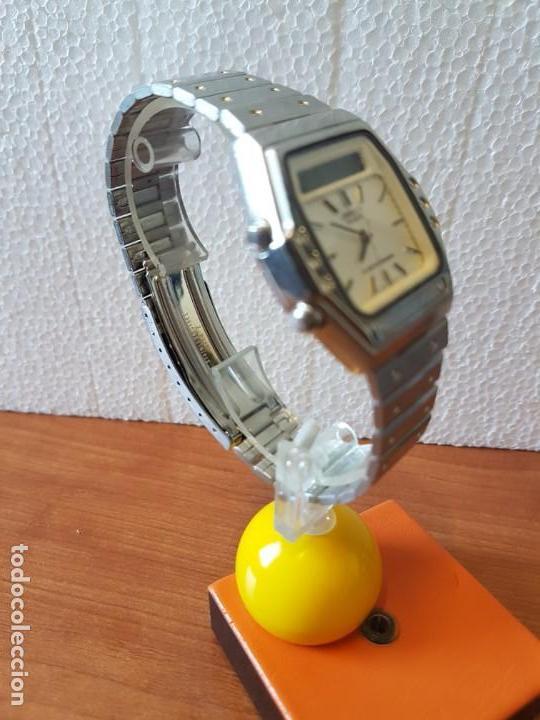 Relojes - Seiko: Reloj caballero (Vintage) SEIKO analógico y digital con alarma en acero, correa acero original SEIKO - Foto 9 - 130043523