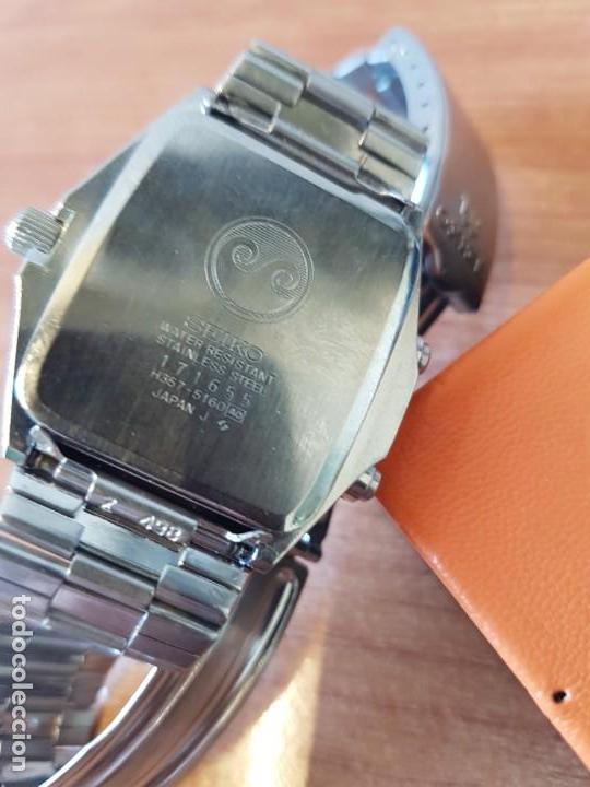 Relojes - Seiko: Reloj caballero (Vintage) SEIKO analógico y digital con alarma en acero, correa acero original SEIKO - Foto 13 - 130043523
