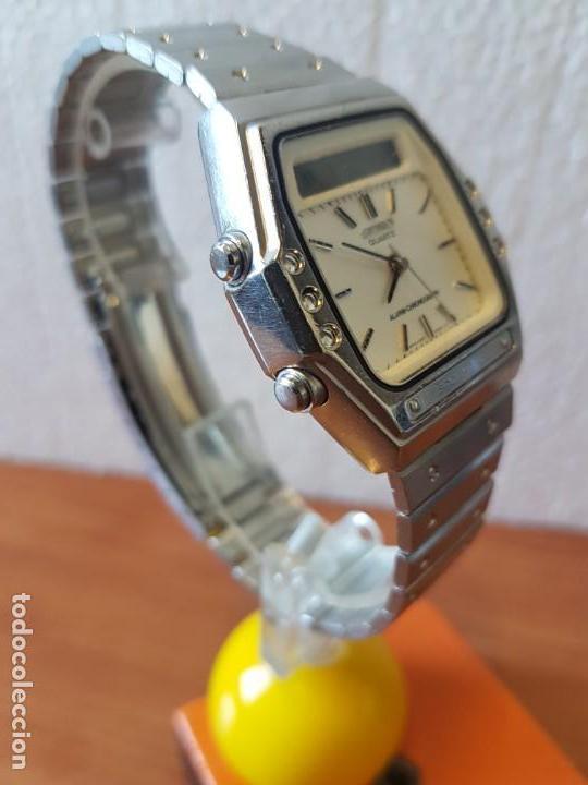 Relojes - Seiko: Reloj caballero (Vintage) SEIKO analógico y digital con alarma en acero, correa acero original SEIKO - Foto 14 - 130043523