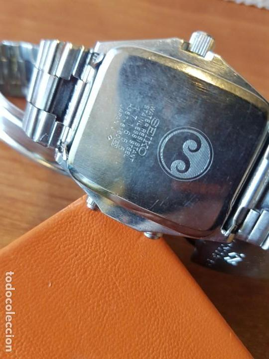 Relojes - Seiko: Reloj caballero (Vintage) SEIKO analógico y digital con alarma en acero, correa acero original SEIKO - Foto 17 - 130043523