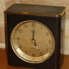Relojes - Seiko: RELOJ DESPERTADOR DE SOBREMESA MARCA SEIKO,AÑOS 70.. Lote 134322290