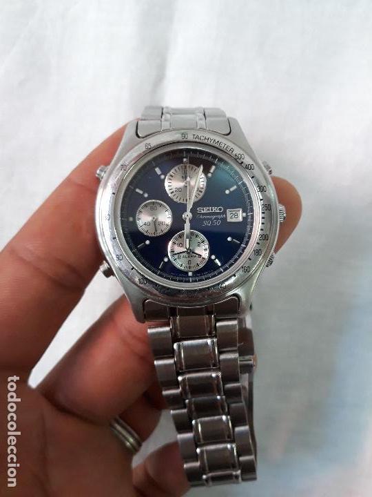 Relojes - Seiko: Reloj SEIKO CHRONOGRAPH SQ 50. - Foto 5 - 134773430