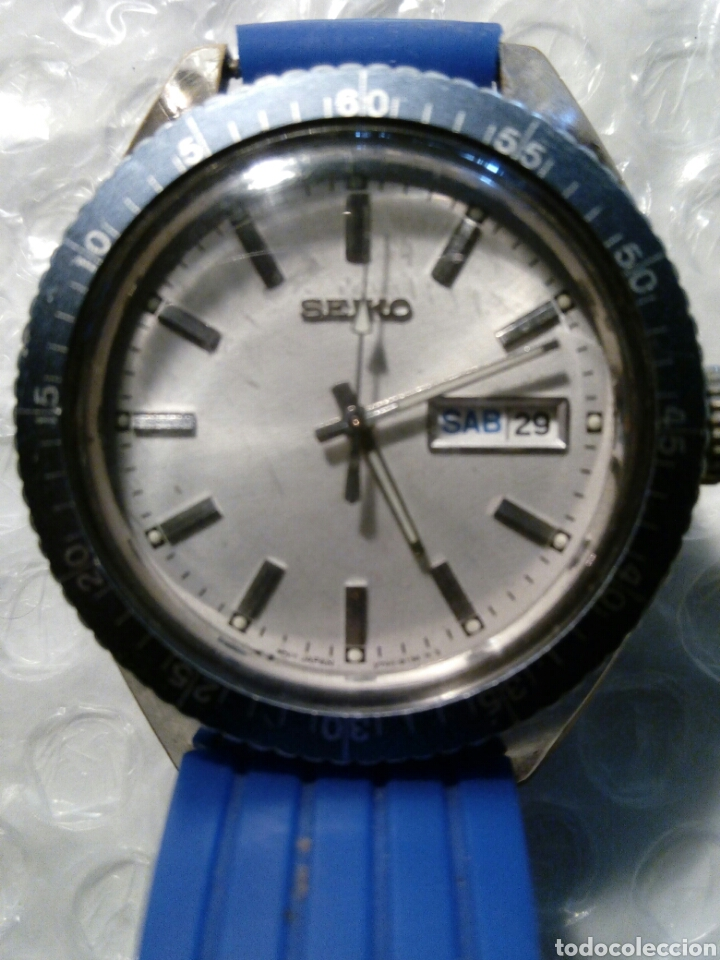 Relojes - Seiko: Reloj en caja Diver, con maquina Seiko quarzt corona a rosca un reloj raro unico y precioso - Foto 6 - 134876130