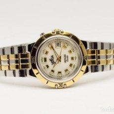 Relojes - Seiko: RELOJ VOGA ACERO Y ORO RETROILUMINADO 1990. Lote 138887766
