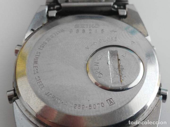 Relojes - Seiko: ANTIGUO RELOJ SEIKO A259-5070 - Foto 9 - 139451070