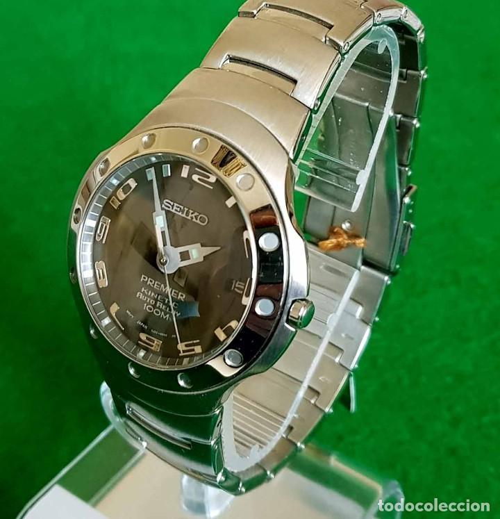 RELOJ SEIKO PREMIER KINETIC AUTO RELAY, C1990 VINTAGE, NOS (NEW OLD STOCK) (Relojes - Relojes Actuales - Seiko)