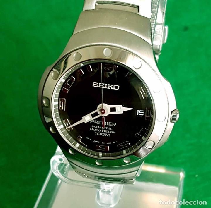 Relojes - Seiko: RELOJ SEIKO PREMIER KINETIC AUTO RELAY, C1990 VINTAGE, NOS (new old stock) - Foto 2 - 140261038