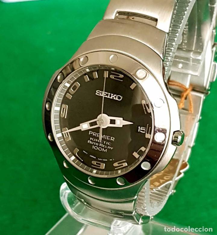 Relojes - Seiko: RELOJ SEIKO PREMIER KINETIC AUTO RELAY, C1990 VINTAGE, NOS (new old stock) - Foto 3 - 140261038