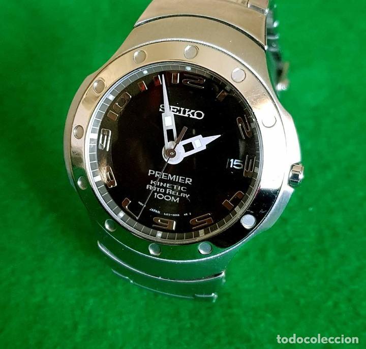 Relojes - Seiko: RELOJ SEIKO PREMIER KINETIC AUTO RELAY, C1990 VINTAGE, NOS (new old stock) - Foto 4 - 140261038