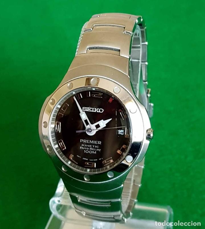 Relojes - Seiko: RELOJ SEIKO PREMIER KINETIC AUTO RELAY, C1990 VINTAGE, NOS (new old stock) - Foto 5 - 140261038