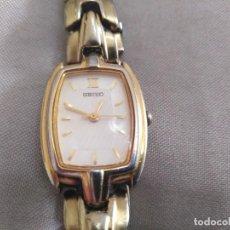 Relojes - Seiko: RELOJ SEIKO SEÑORA CHAPADO ORO AÑO 1990. FUNCIONA PERFECTAMENTE. CLASICO. COLECCIÓN ANTIGUO SEÑORA. Lote 143681594