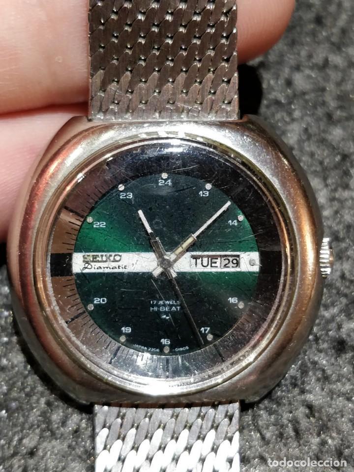RELOJ SEIKO DIAMATIC HI-BEAT 27 RUBIES CON CALENDARIO.FUNCIONANDO (Relojes - Relojes Actuales - Seiko)
