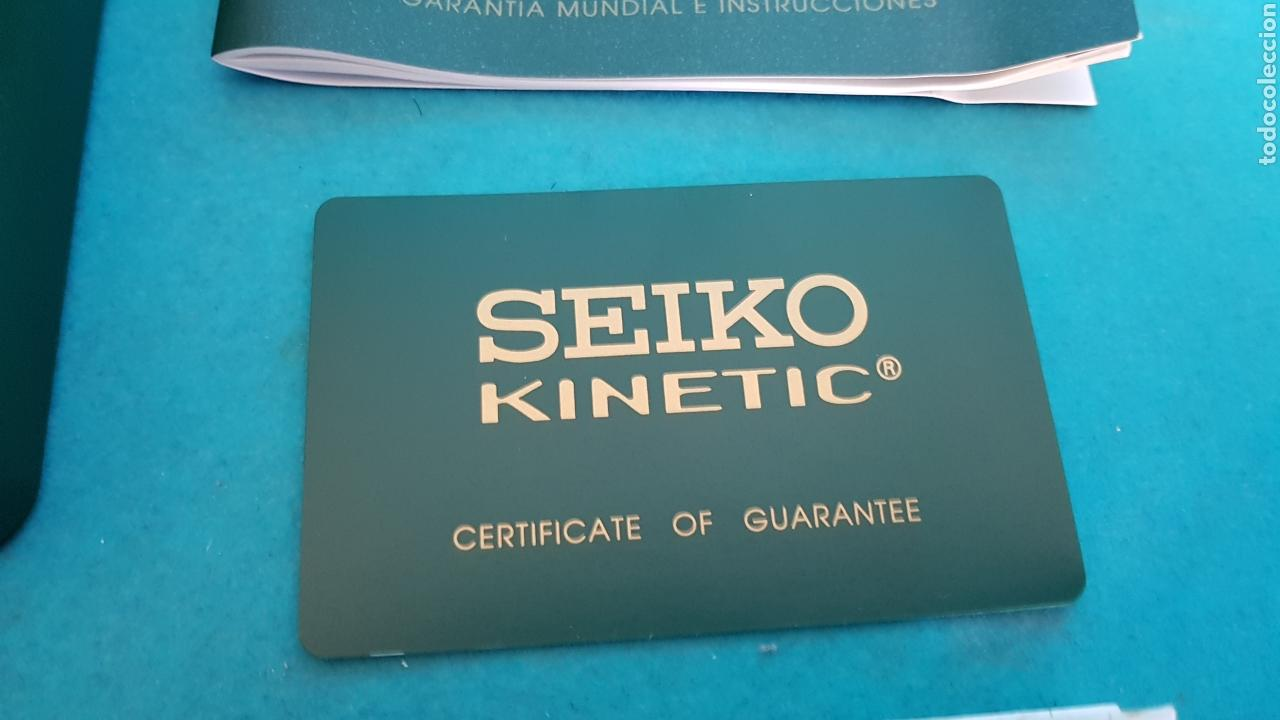 Relojes - Seiko: ESTUCHE Y DOCUMENTACION DE RELOJ SEIKO KINETIC 1999 - Foto 4 - 151779886