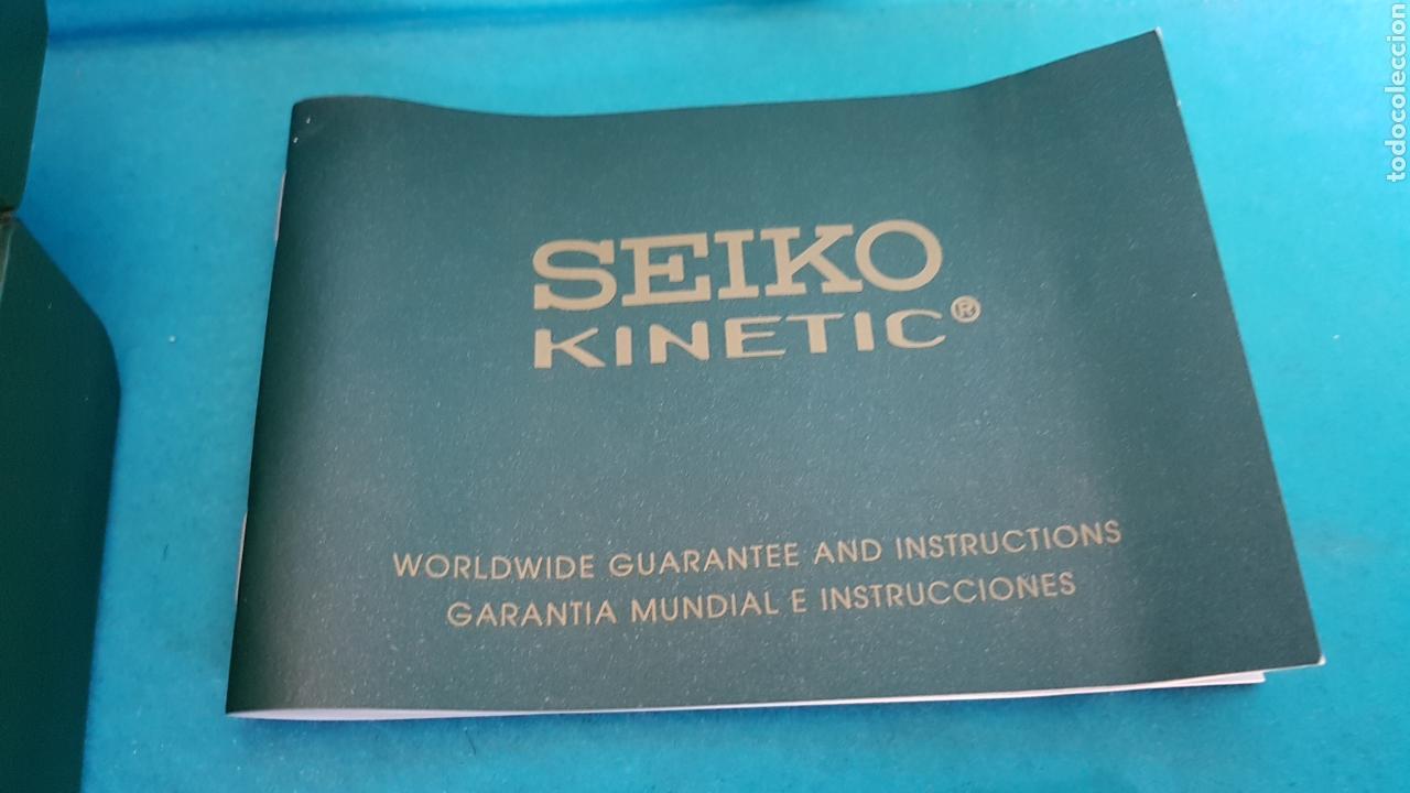 Relojes - Seiko: ESTUCHE Y DOCUMENTACION DE RELOJ SEIKO KINETIC 1999 - Foto 5 - 151779886