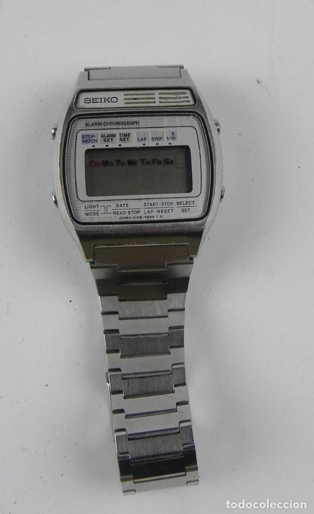 IMPRESIONANTE RELOJ SEIKO A158-5050, ESTA EN MUY BUENAS CONDICIONES, VER FOTOS, CORREA DE AJUSTE RAP (Relojes - Relojes Actuales - Seiko)