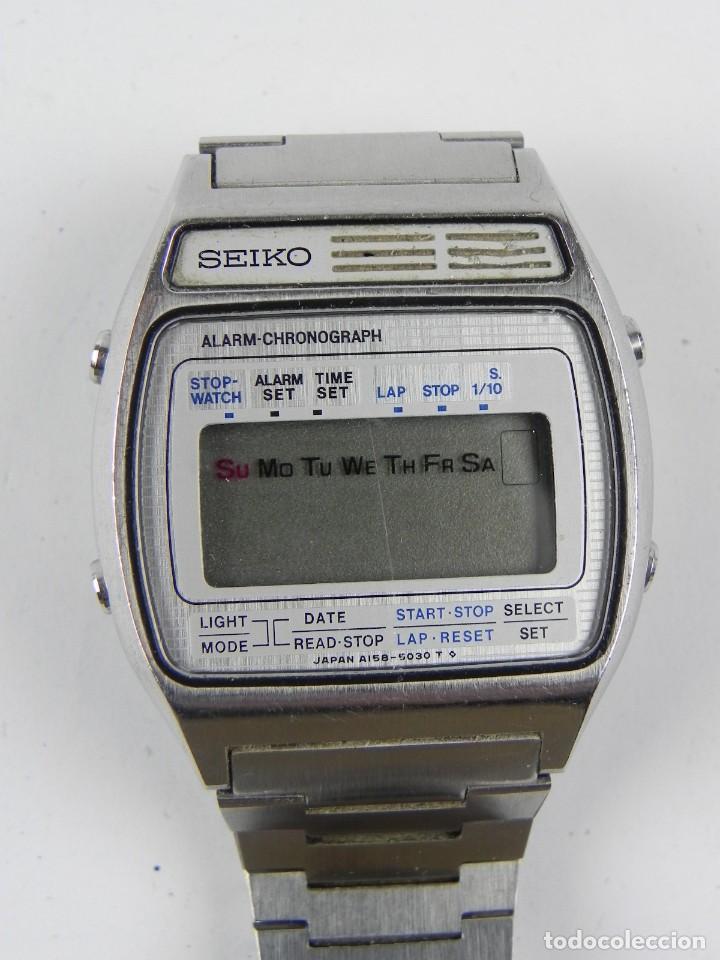 Relojes - Seiko: Impresionante reloj Seiko A158-5050, esta en muy buenas condiciones, ver fotos, correa de ajuste rap - Foto 2 - 156035974