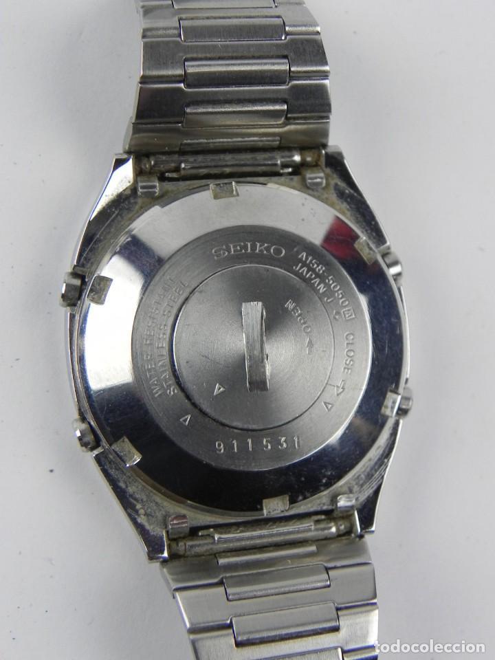Relojes - Seiko: Impresionante reloj Seiko A158-5050, esta en muy buenas condiciones, ver fotos, correa de ajuste rap - Foto 3 - 156035974