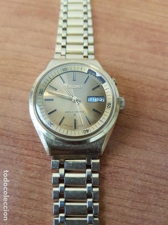 Relojes - Seiko: Reloj caballero (Vintage) SEIKO BELL - MATIC con alarma chapado de oro, con esfera color champan - Foto 2 - 158295990