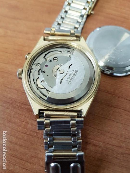 Relojes - Seiko: Reloj caballero (Vintage) SEIKO BELL - MATIC con alarma chapado de oro, con esfera color champan - Foto 8 - 158295990
