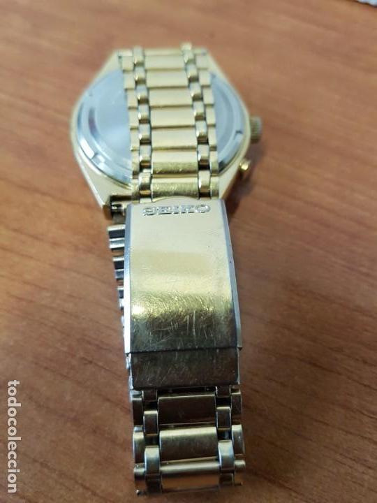 Relojes - Seiko: Reloj caballero (Vintage) SEIKO BELL - MATIC con alarma chapado de oro, con esfera color champan - Foto 10 - 158295990