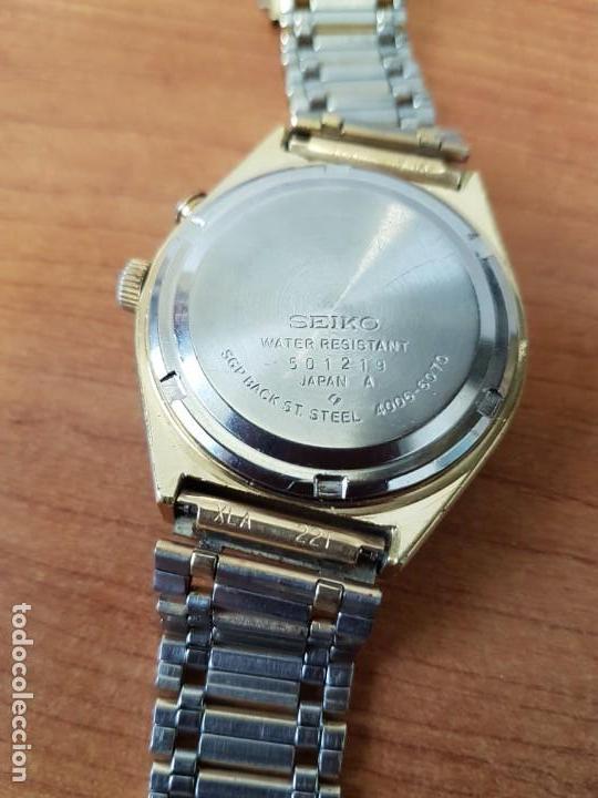 Relojes - Seiko: Reloj caballero (Vintage) SEIKO BELL - MATIC con alarma chapado de oro, con esfera color champan - Foto 12 - 158295990