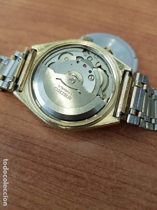 Relojes - Seiko: Reloj caballero (Vintage) SEIKO BELL - MATIC con alarma chapado de oro, con esfera color champan - Foto 13 - 158295990