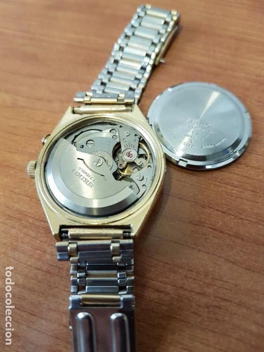 Relojes - Seiko: Reloj caballero (Vintage) SEIKO BELL - MATIC con alarma chapado de oro, con esfera color champan - Foto 15 - 158295990