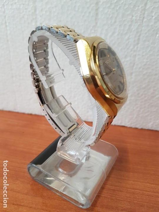 Relojes - Seiko: Reloj caballero (Vintage) SEIKO BELL - MATIC con alarma chapado de oro, con esfera color champan - Foto 21 - 158295990