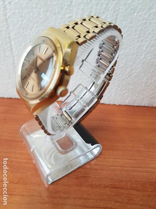 Relojes - Seiko: Reloj caballero (Vintage) SEIKO BELL - MATIC con alarma chapado de oro, con esfera color champan - Foto 25 - 158295990