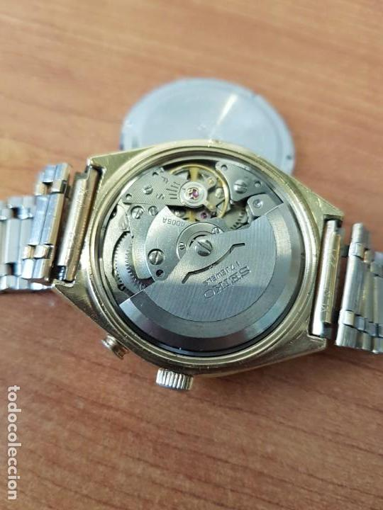 Relojes - Seiko: Reloj caballero (Vintage) SEIKO BELL - MATIC con alarma chapado de oro, con esfera color champan - Foto 26 - 158295990