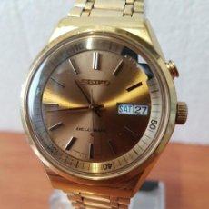 Relojes - Seiko: RELOJ CABALLERO (VINTAGE) SEIKO BELL - MATIC CON ALARMA CHAPADO DE ORO, CON ESFERA COLOR CHAMPAN. Lote 158295990