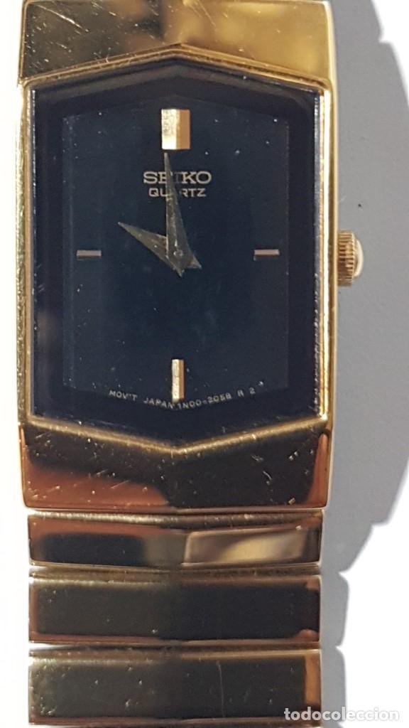 RELOJ SEIKO QUARTZ MOV´T, JAPAN, EN ORO DE 18K., TAL CUAL SE VE. (Relojes - Relojes Actuales - Seiko)