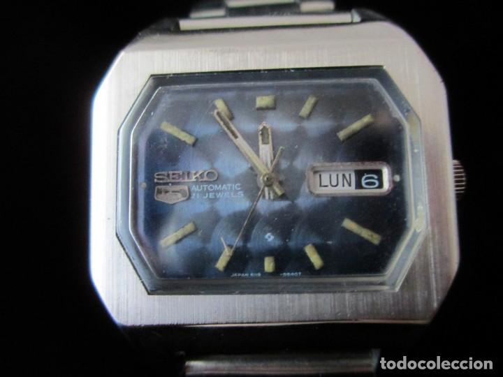 RARO SEIKO 5 AUTO .OCTOGONAL CAB. VINTAGE / RARE OCTAGONAL AUTO SEIKO 5 WATCH (Relojes - Relojes Actuales - Seiko)