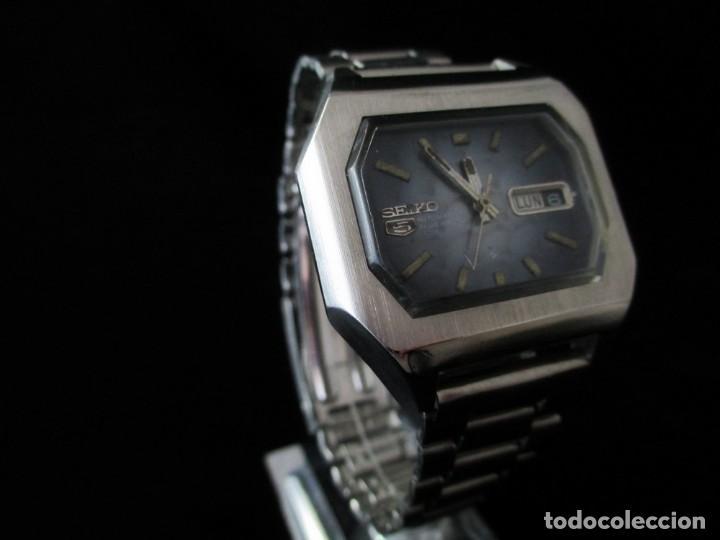 Relojes - Seiko: RARO SEIKO 5 AUTO .OCTOGONAL CAB. VINTAGE / RARE OCTAGONAL AUTO SEIKO 5 WATCH - Foto 3 - 159857694