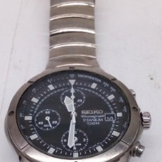 Relojes - Seiko: RELOJ SEIKO TITANIUN CRONOGRAFO 100 MTS CON PAPELES Y DOCUMENTACION EN SU CAJA. Lote 159957482