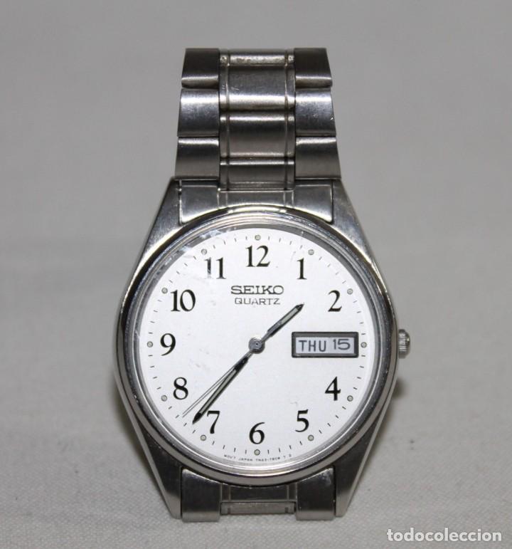RELOJ SEIKO QUARTZ 7N43-7A50 JAPAN CON CALENDARIO DIA Y FECHA AÑOS 80 (Relojes - Relojes Actuales - Seiko)