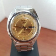 Relojes - Seiko: RELOJ DE CABALLERO (VINTAGE) SEIKO AUTOMÁTICO 21 RUBIS CON DOBLE CALENDARIO A LAS TRES CALIBRE 7009A. Lote 172813450