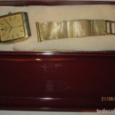 Relojes - Seiko: SEIKO TIME CORP JAPAN T RELOJ CHAPADO EN ORO ANTIGUO CADENA DORADA SIN FUNCION. Lote 127580811