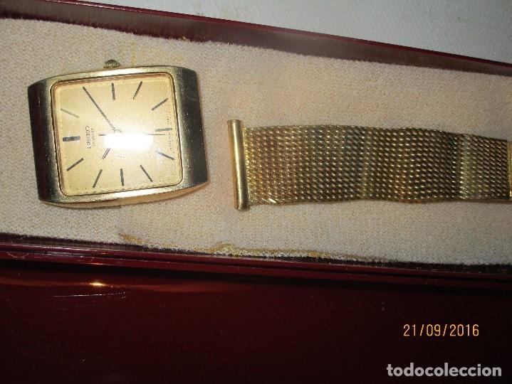 Relojes - Seiko: SEIKO TIME CORP JAPAN T RELOJ chapado en oro ANTIGUO CADENA DORADA SIN FUNCION - Foto 15 - 127580811