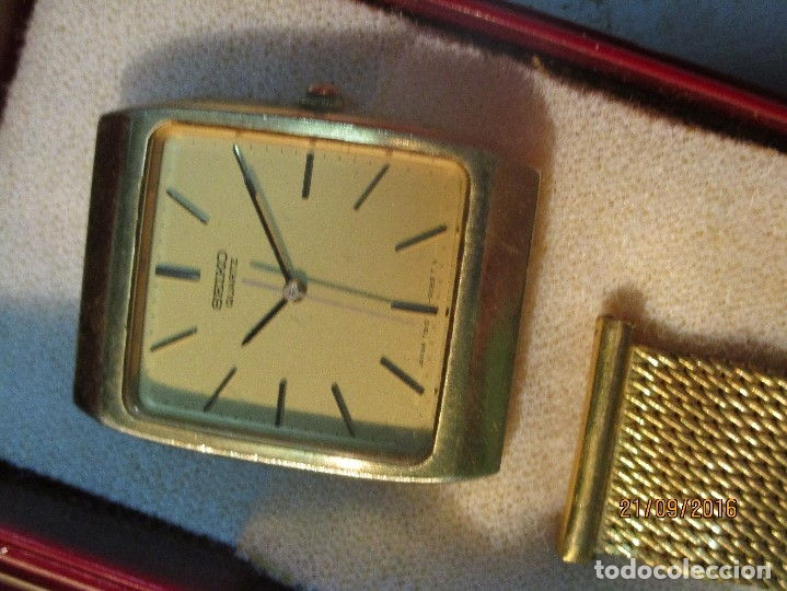 Relojes - Seiko: SEIKO TIME CORP JAPAN T RELOJ chapado en oro ANTIGUO CADENA DORADA SIN FUNCION - Foto 2 - 127580811