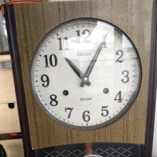 Relojes - Seiko: RELOJ DE PARED SEIKO PA 605 DE PÉNDULO FUNCIONANDO. Lote 169104772