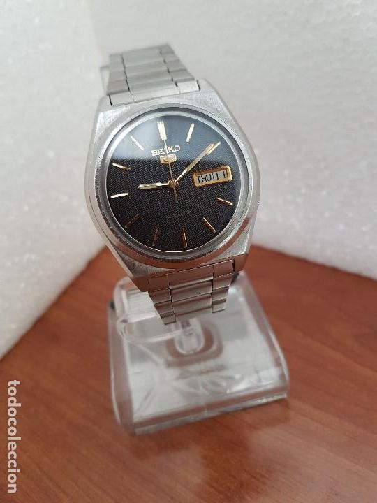 Relojes - Seiko: Reloj de caballero (Vintage) Seiko automático 21 rubis con doble calendario a las tres calibre 7009A - Foto 3 - 169818914