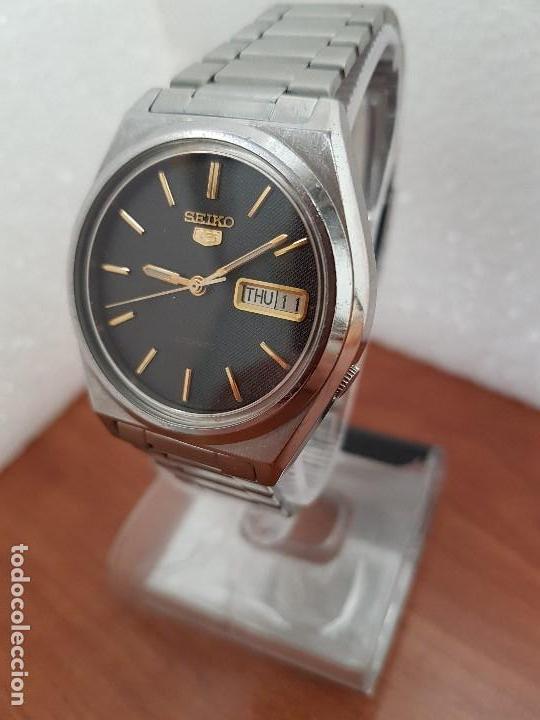 Relojes - Seiko: Reloj de caballero (Vintage) Seiko automático 21 rubis con doble calendario a las tres calibre 7009A - Foto 4 - 169818914