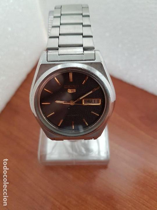 Relojes - Seiko: Reloj de caballero (Vintage) Seiko automático 21 rubis con doble calendario a las tres calibre 7009A - Foto 9 - 169818914